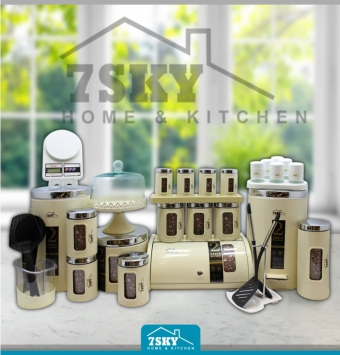 Kitchen service 32 pieces with cream front window