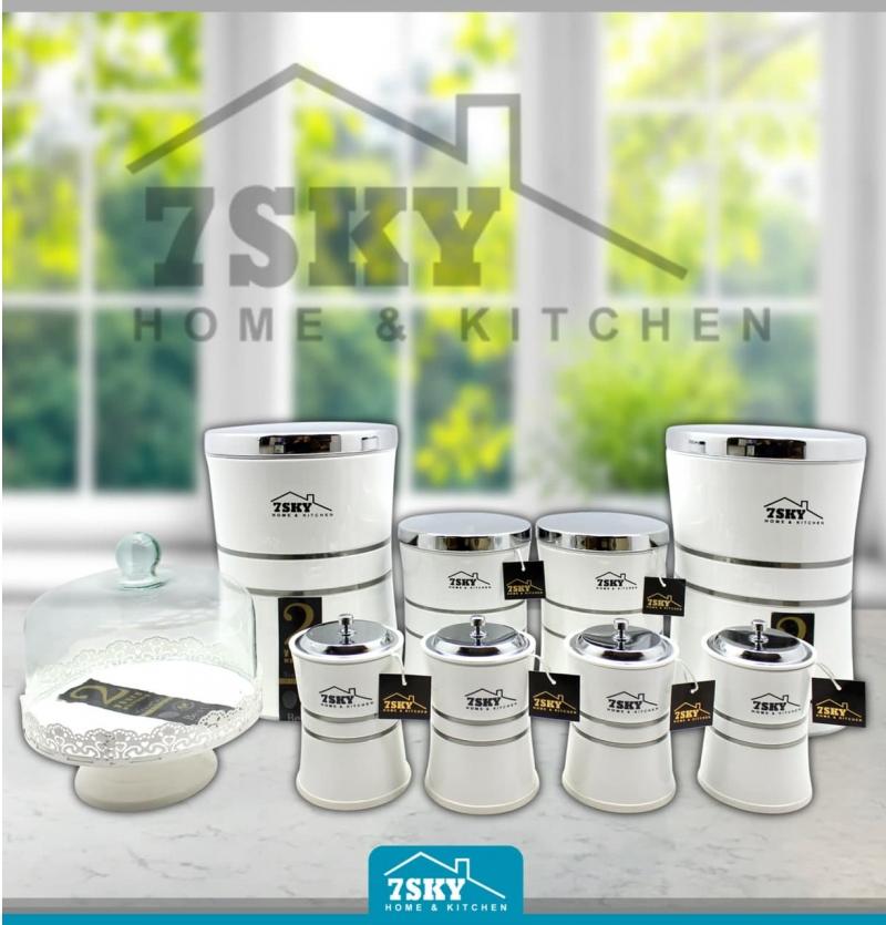Kitchen service 10 white pieces