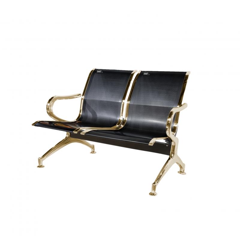 صندلی دونفره مدلHمشکی طلایی