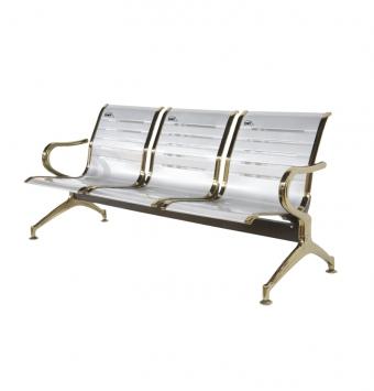 صندلی سه نفره مدلHنقره ای طلایی