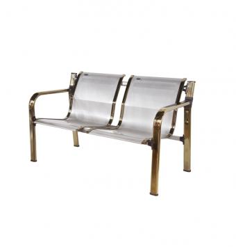صندلی دو نفره مدلHنقره ای طلایی