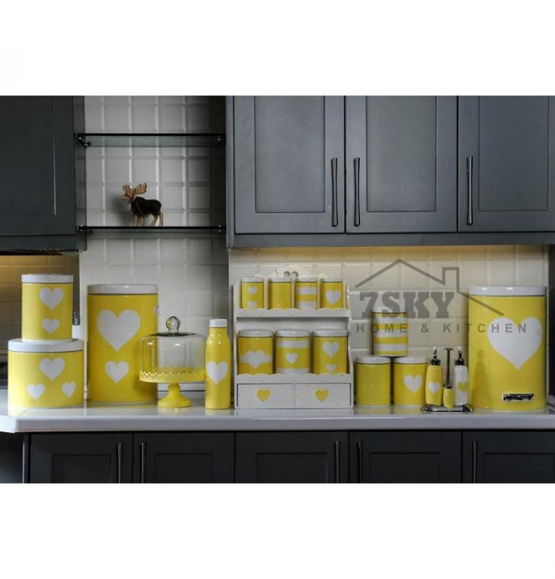 سرویس آشپزخانه فانتزی 23 پارچه لیمویی