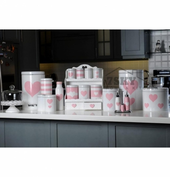 Fantasy white-pink kitchen set