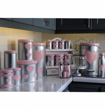Pink Silver Fantasy kitchen set 23 pieces metallic