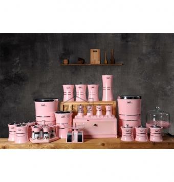 Acroylic Kitchen service 31 pink pieces