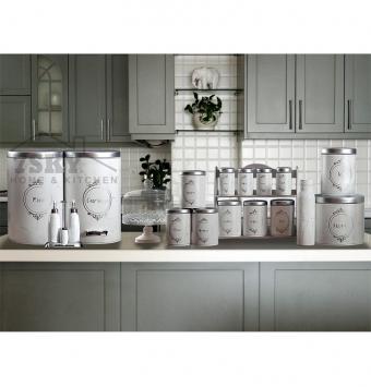 Kitchen set 23 pieces silver stone design