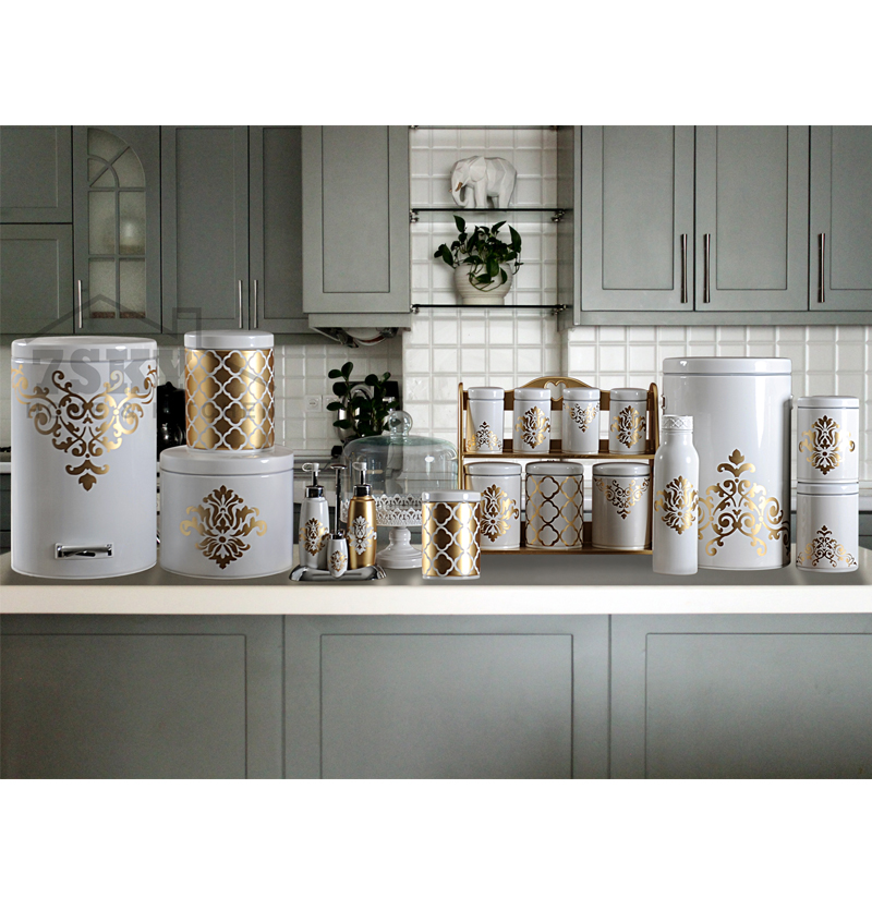 Kitchen set of 23 pieces of Islamic design