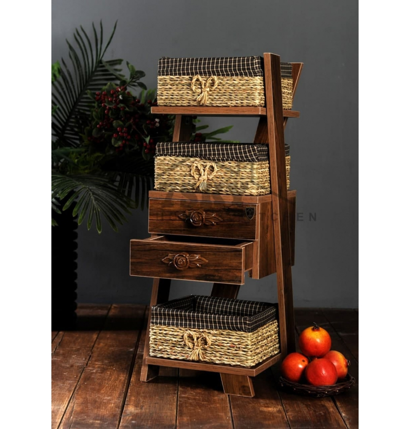 Basket of onion potatoes Parmis 2 Antique Drawers